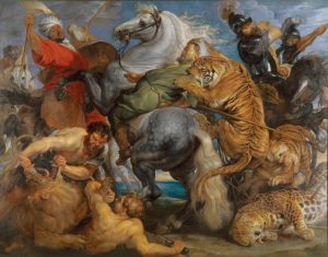 Tiger, Lion and Leopard Hunt, 1616. Oil on canvas. By Peter Paul Rubens. Rennes, Musée des Beaux Arts. Photo c MBA, Rennes, Dist RMN-Grand Palais/Adelaide Beaudoin.