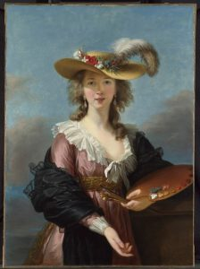 Self Portrait in a Straw Hat, after 1782. By Elisabeth Louise Vigée Le Brun. © National Gallery, London.