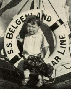 On deck on the Belgenland, Feburary1929. ( c) Friends of Red Star Line.