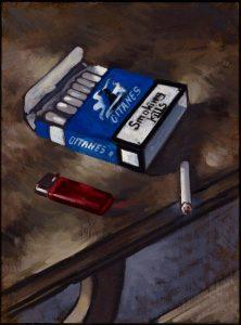 Gitanes, 2014. Oil on canvas. By Paul Simonon. C the artist.