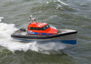 KNRM's Nh 1816 self-righting lifeboat sailed across the North Sea to Heybridge, Essex