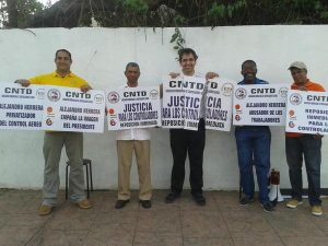 Antonio Fritz (centre) showing his solidarity with members of the ADCA before his arrest