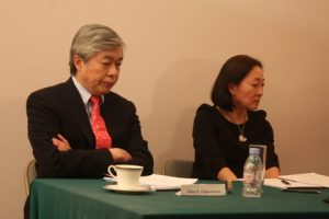 Glen S Fukushima and Mami Mizutori.