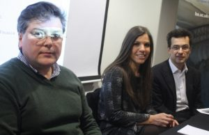 From left: Dionyssis Dimitrakopoulos, Daphne Halikiopoulou, and Dimitri Vayanos