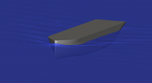 Smooth wave profile along the hull