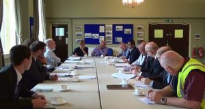 A port welfare committee meets in the UK. Credit ISWAN