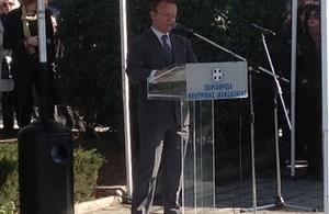 John Kittmer delivering his speech