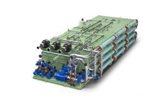 Illustration of the Wärtsilä Hamworthy Membrane BioReactor Systems.
