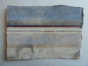 Touching Edges 2, 'Bronze Red', 2013. Silverpoint, graphite and oils on Arches paper. By Linda Ingham.
