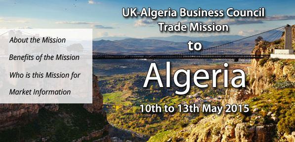 UK ALGERIA TREADE MISSION 2015