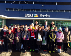 Children from Maybury Primary School enjoyed a trip to the Port of Hull which included a tour of a P&O cruise ferry (Image courtesy of ABP