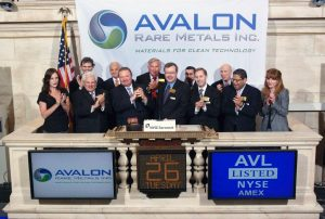 Avalon Rare Metals opens New York Stock Exchange in April 2011
