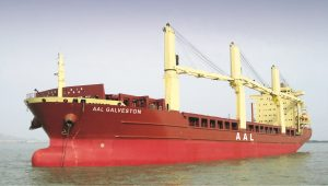The AAL Galveston which has joined AAL's fleet on long-term time charter to add capacity the company's Tramp and Projects division