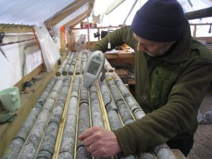 Analysing core samples from the Nechalacho project