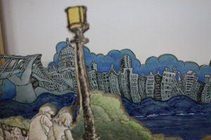 Detail of Sarah Choi's ceramic piece London.