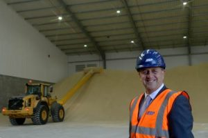 ABP Head of Operations for Grimsby & Immingham Steve Williams in the new warehouse (image courtesy of ABP/David Lee Photography
