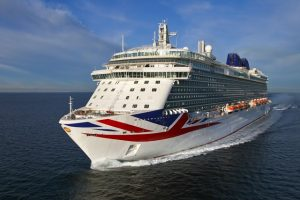 P&O Cruises Britannia features a water-lubricated COMPAC propeller shaft system