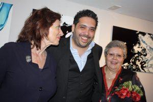 Family support: Maria Georgulas, Dimitris Angelakos and Katingo Angelakos
