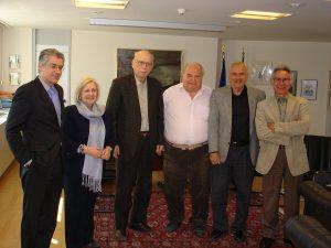 l to r: Tsavdarides Antony, Pournara Jenny, Georgakopoulos Char., Rakintzis Leandros, Pentheroudakis Nick, Hatzis Gregory