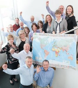 Mapping out global expansion: The Primeast team.