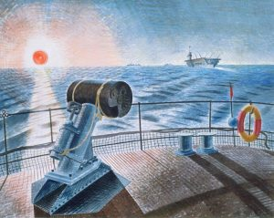 Midnight Sun. 1940. Watercolour and graphite on paper. By Eric Ravilious.Tate.