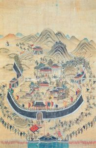 A Depiction of Patriotic Martyrs at Tongnae (National Treasure No 392) painted by Pyŏn Pak, Courtesy of the Korea Army Museum, Korea Military Academy.