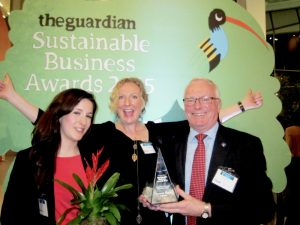 Carolyne Okeijn (Project Manager), Stephanie Draper (Chair SSI Board of Trustees) and Alastair Fischbacher (SSI Chief Executive).