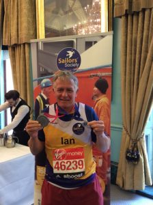 Ian Offland, Director – Fleet operations for Swire, was part of the 17 strong Sailors' Society London Marathon team
