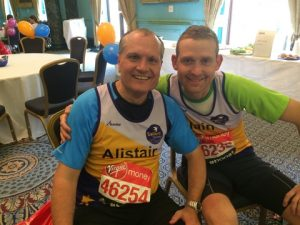 Alistair Scarff from Bank of America Merrill Lynch and Iain Carmichael of Lloyd's Register Hong Kong.  This was Iain's second marathon in support of Sailors' Society.