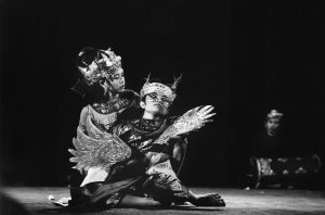 Balinese Gamelan Gong Kebyar concert and traditional dances Open-AirTheatre, 1969. Courtesy of Malie Letrange.