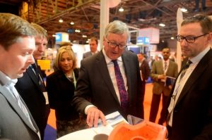Fergus Ewing MSP, Minister for Business, Energy and Tourism in the Scottish Government on his tour around the show proving that seeing products and meeting people is what events are all about