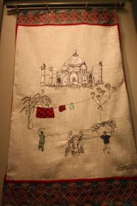 Taj Mahal from a village viewpoint. By Harriet Riddell.