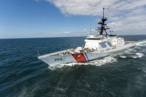 NSC 5 James on builders trials in the Gulf of Mexico March 30, 2015.