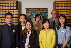 Jacob Viero with delegates who have travelled from China to attend the course.