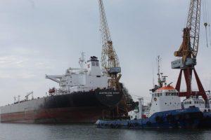 Teekay Shipping's products tanker Australian Spirit at Lisnave.