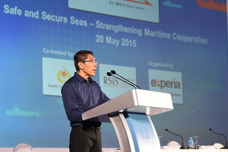 Minister of State for Defence Dr Mohamad Maliki Bin Osman officiating at the opening ceremony of the 4th International Maritime Security Conference.