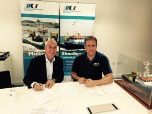 Mr. Jos van Woerkum (Managing Director Damen Shipyards Hardinxveld), Mr. Menno Kuijt (Managing Director of Maritime Craft Services)