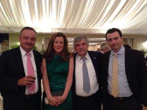 Didier Bouttier, Evi Hatzidakis, Lambros Chachalis and Angel Tsiolis