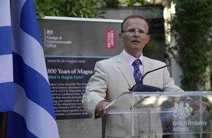 John Kiitmer, the British Ambassador in Athens