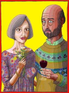 Julie and Rob, 2013. By Grayson Perry. Courtesy the artist, Paragon/Contemporary Editions and Victoria Miro, London.