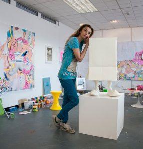 Misha Milovanovich in her studio.