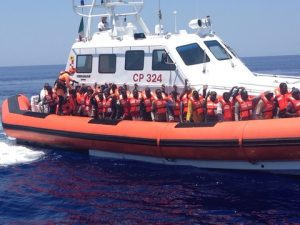 Recent photograph of migrant rescue