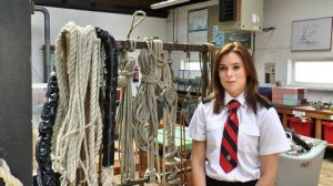 2.Warsash Maritime Academy cadet Georgia Atkins starred in one of the five films Seafarers UK commissioned for Seafarers Awareness Week