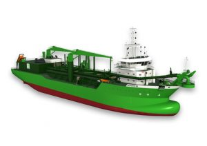 """The """"Scheldt River"""" will be the world's first dual-fuelled dredger"""