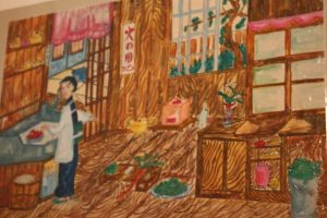 Mother Preparing a Meal in the Kitchen, by Hiroko Nishimura, aged 12, nSukusei Middle School, Toyama.