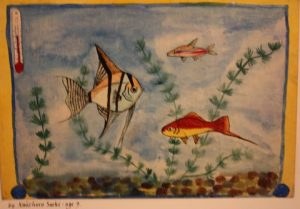 Aquarium by Kaiichiro Saeki, aged nine.
