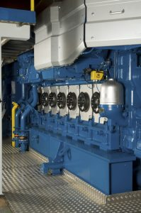 Picture of the Wärtsilä 34DF engine