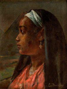 Nubian Girl, oil on canvas, by Ervand Demirdjian. Image courtesy of Safarkhan Art Gallery, Barjeel Art Foundation.