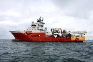 Fugro Saltire trenching and cable-lay vessel