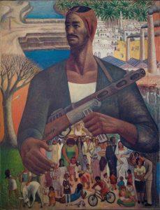 Le Gardien de la Vie, 1967-1968, oil on canvas, by Hamed Ewais. Barjeel Art Foundation.
